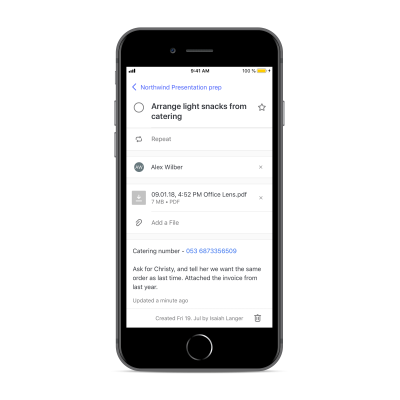 Add notes and files to your tasks
