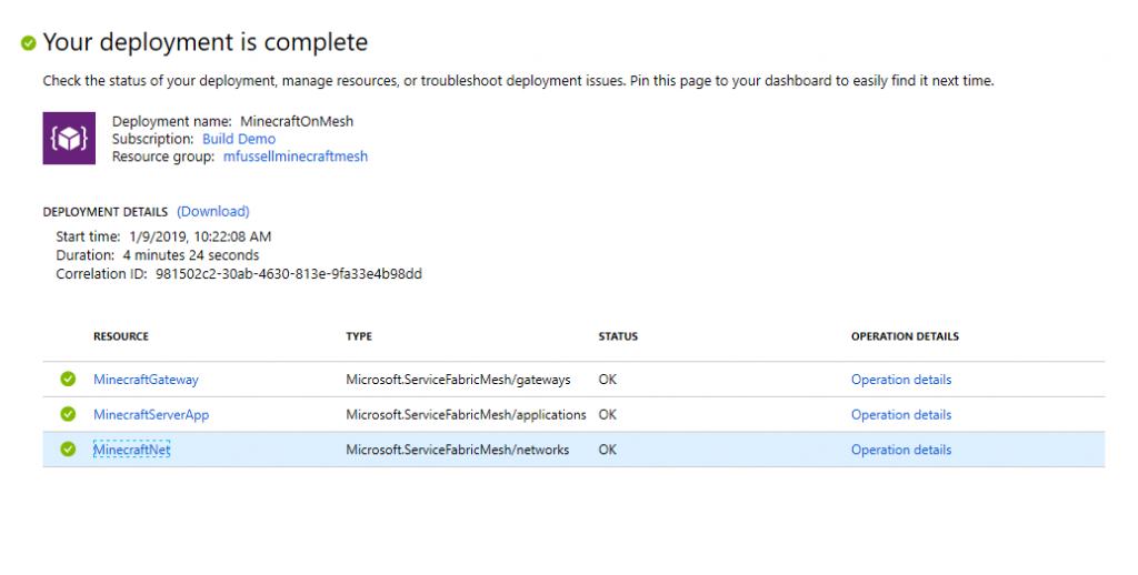 Running Minecraft on Service Fabric Mesh - Microsoft Tech