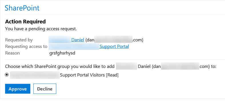 Requesting access to Support Portal.