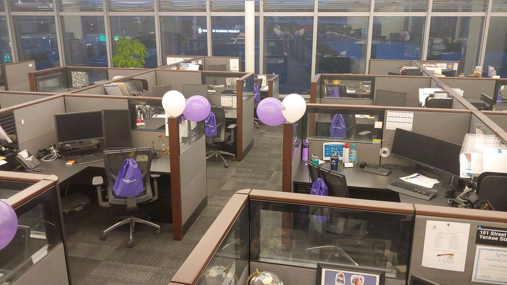 We decorated our Champions' Desk with balloons.  Everyone got a swag bag on their chair