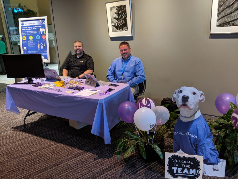 """Our Microsoft Account team manning the """"Ask Me Anything"""" desk"""