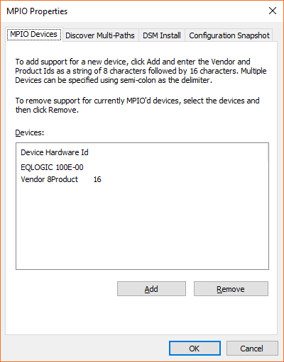 MPIO settings