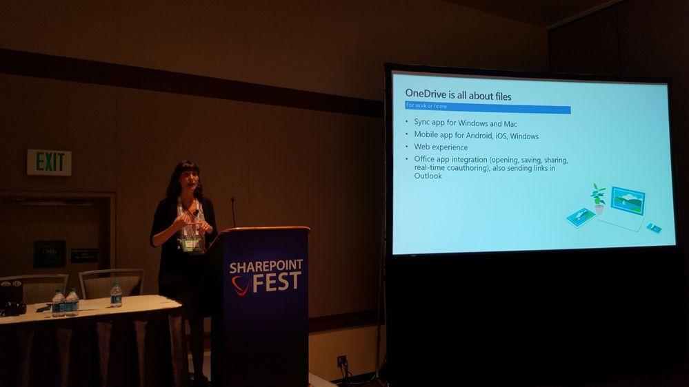 Kaarin presenting at SharePoint Fest Seattle