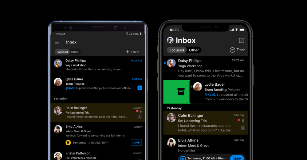 Outlook for Android and iOS