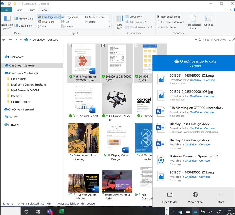 Activity Center in the task bar on Windows.