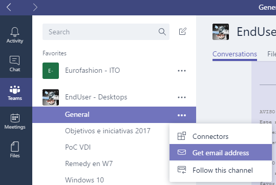 Microsoft Teams best practices share emails
