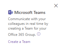 Create a Microsoft Team for an existing group-connected SharePoint team site.
