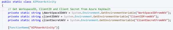 C-Sharp Code to get Secrets from AKV