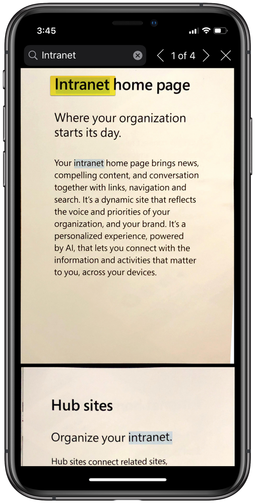 OCR for PDF scan in OneDrive for iOS