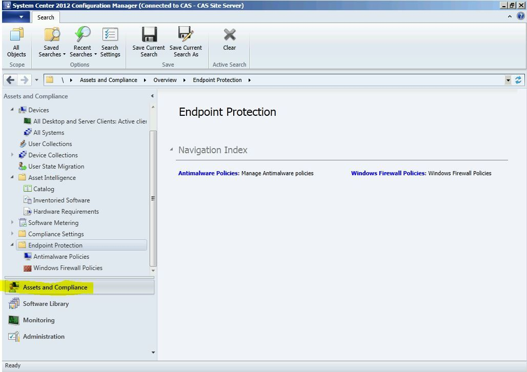 System Center 2012 Configuration Manager Antivirus Exclusions