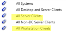System Center Configuration Manager – All Servers and All Workstations Collections with ProductType