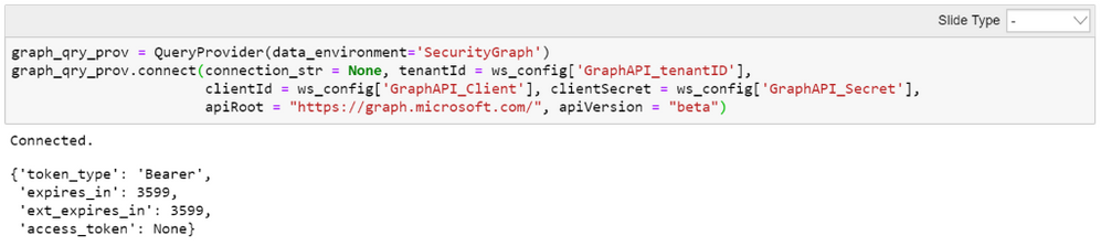 Getting an access token for the Graph API