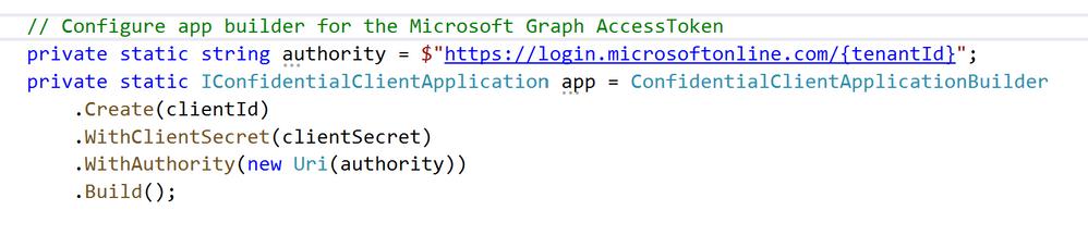 Graph API app builder