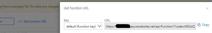 Copy Function URL