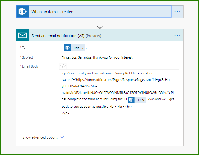 1-Flow to send initial email