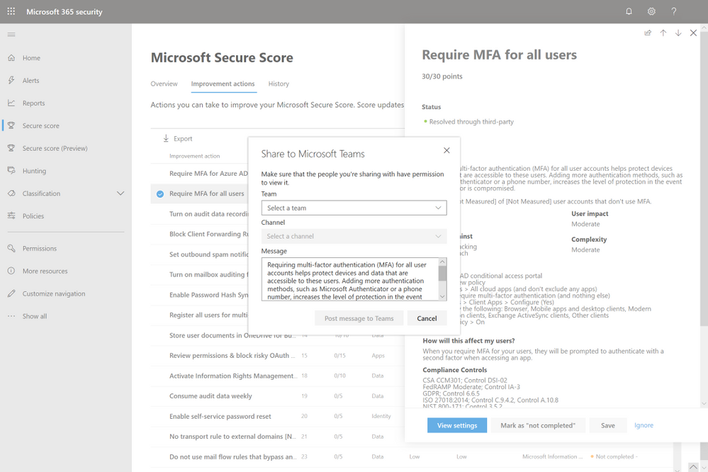 2019 - Microsoft 365 Security Center - Collaboration - Blog - Vibranium - Image 07 - Teams Clicked.png
