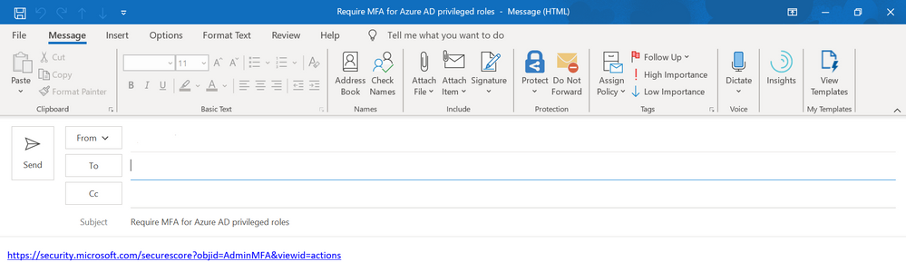 2019 - Microsoft 365 Security Center - Collaboration - Blog - Vibranium - Image 09 - Email Clicked.PNG