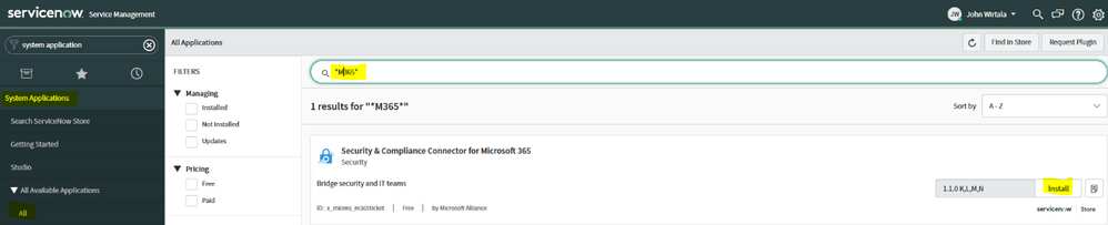 2019 - Microsoft 365 Security Center - Collaboration - Blog - Vibranium - Image 09.1 - Search for Connector.png