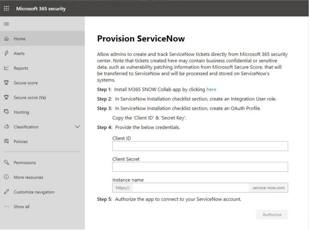2019 - Microsoft 365 Security Center - Collaboration - Blog - Vibranium - Image 18.2 - Provision SvcNow.png