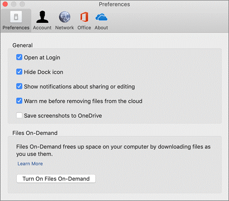 Setting up Files On-Demand for Mac.