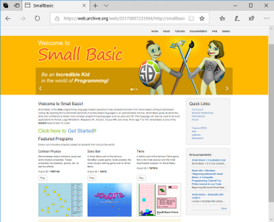 Small Basic Web v2.0