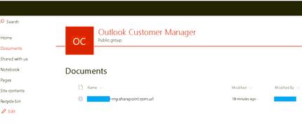 Outlook Customer Manager - SharePoint - B - Hidden PII.PNG
