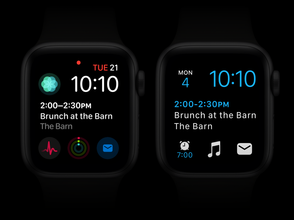 Apple watch with Outlook complications