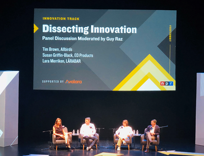 Dissecting Innovation panel featuring the founders of Allbirds, EO Products and LARABAR