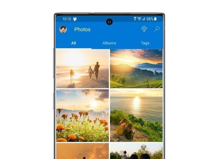 Samsung plus OneDrive ensures your photos and files are synced and available across devices.