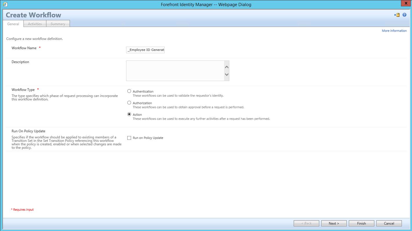 (WAL) -  Workflow Example - Employee ID Generator