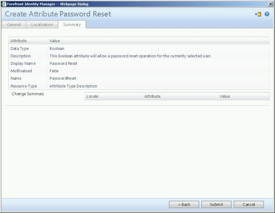 Delegated Password Reset With FIM/MIM