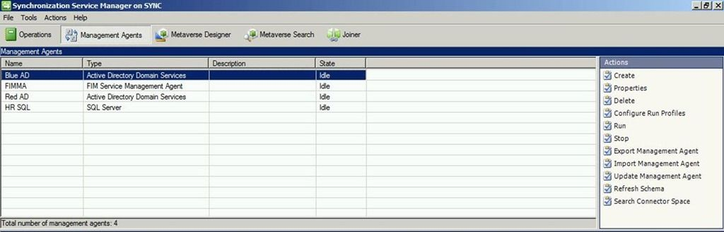 Management Agent Configuration – Part 5: Active Directory Lightweight Directory Service Management Agent