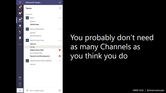 Slide showing that you don't need as many channels as you think you do