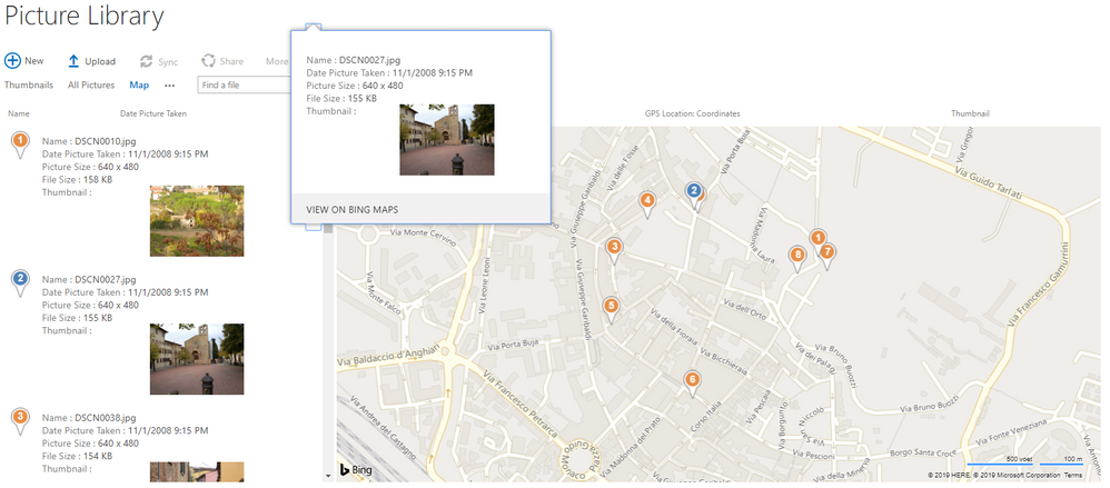 Example Bing map SharePoint Online.png