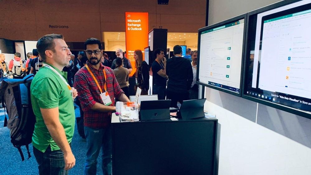 MS Ignite 2019 blog - Visio Data Visualizer Booth.jpeg