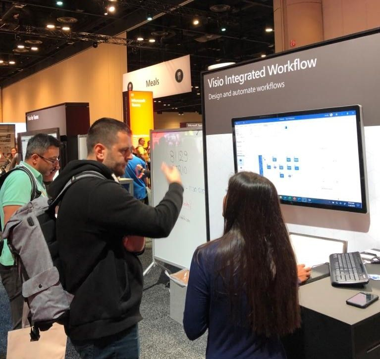 MS Ignite 2019 blog - Visio Integrated Workflow Booth.jpeg
