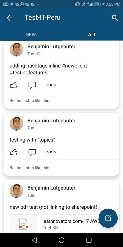 inline hashtags don't appear as links, and when adding tags/hashtags as topics, they don't even show up in the message