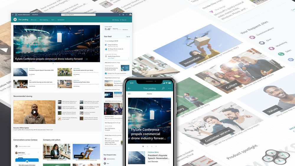 A SharePoint home site gives your organization a dynamic, top-level landing page designed for web and mobile.