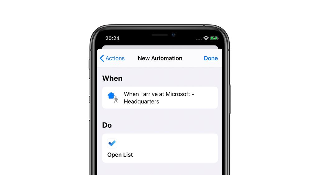 Add automations in the Shortcuts app
