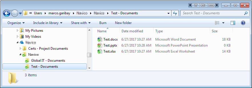 Folder with files from a library with no check in enabled