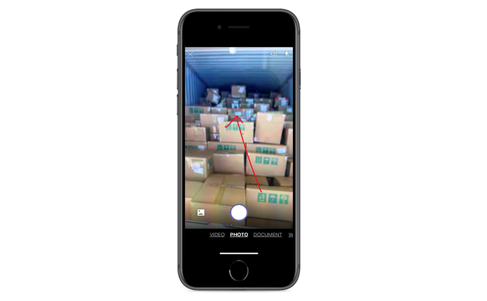 Smart Camera images can be annotated and do not get saved locally on the device.