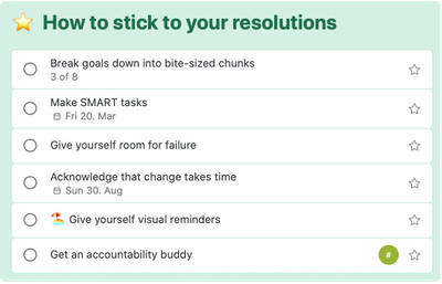 How to stick to your resolutions