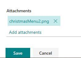 Selected list item to click attachment to view