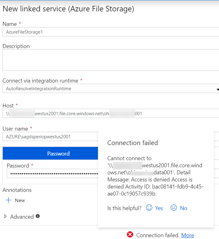 ADF linked service for Azure File share.png