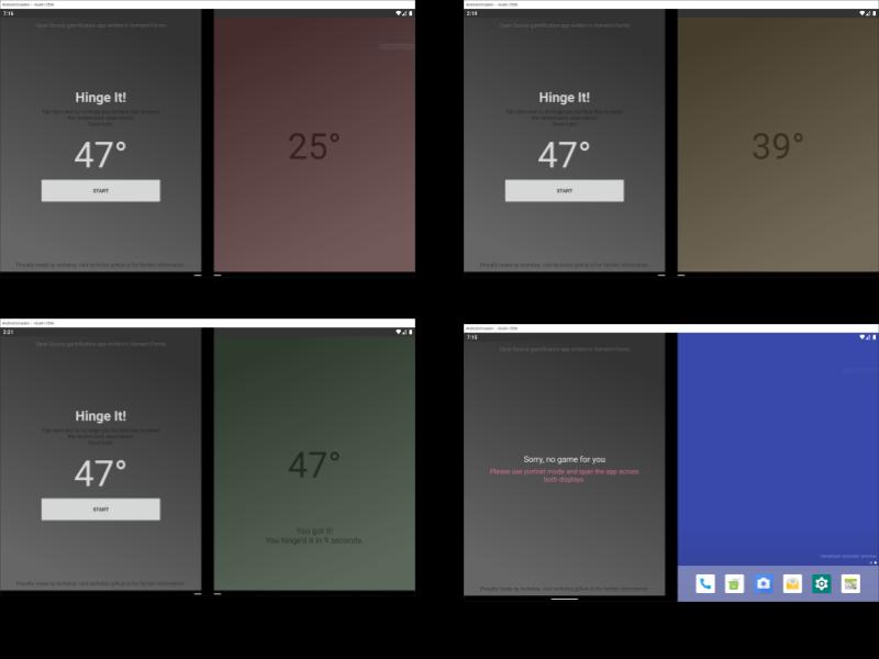 Hinge It Surface Duo app screenshot