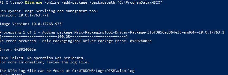 PowerShell command failure.jpg