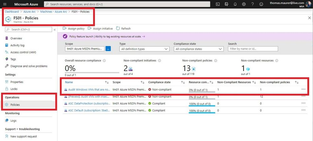 Azure Arc Server - Policies