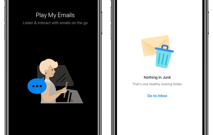 Updated illustrations in Outlook mobile