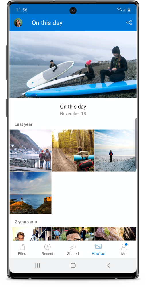 Discover photos of the same day from past years.