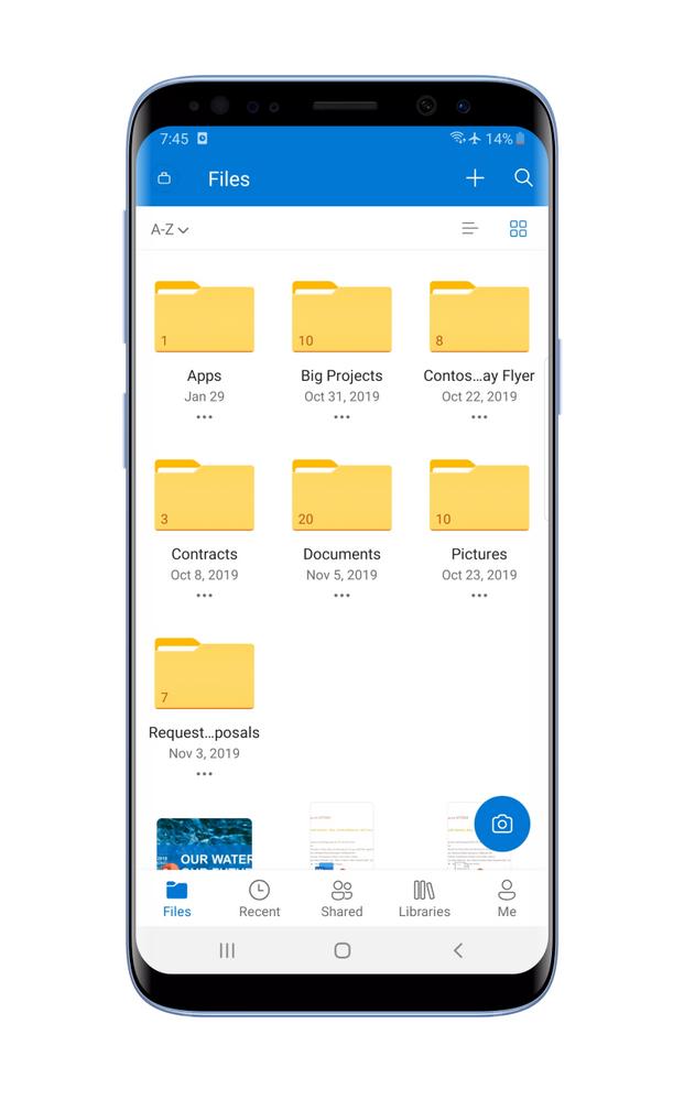 Files tab in Tiles view.